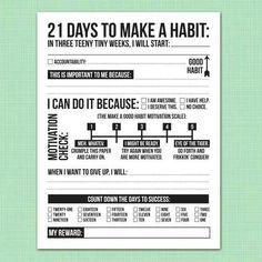 21 days to make a habit