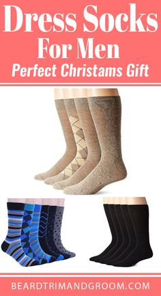 Dress socks for men make a perfect Christmas gift for men or husband, boyfriend, brother, dad and a friend. Christmas Gifts For Boyfriend, Christmas Gifts For Friends, Perfect Christmas Gifts, Boyfriend Gifts, Funny Gifts For Friends, Gifts For Dad, Beard Accessories, Christams Gifts, Argyle Socks