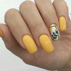 Pin by Lisa Firle on Nageldesign - Nail Art - Nagellack - Nail Polish - Nailart - Nails in 2020 Yellow Nails Design, Yellow Nail Art, Nail Art Designs, Nail Design, Jolie Nail Art, Color Type, Minimalist Nails, Pretty Nail Art, Gel Manicure