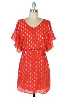 Crescent Moon Dress: Red [D7855] - $42.99 : Spotted Moth, Chic and sweet clothing and accessories for women