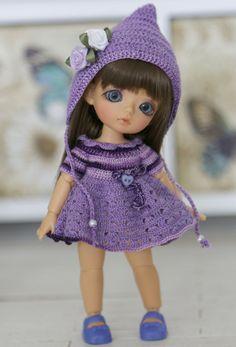 "Set ""Violet Fairy"" for pukipuki/ lati white SP body/Felix brownie/SOOM Dudu"