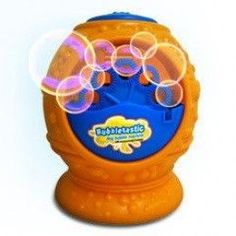 This Dog Bubble Machine is a great dog toy if your dog is outside and you only plan on being away for a short time. Description from squidoo.com. I searched for this on bing.com/images