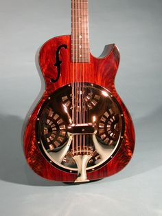 Moonstone Guitars' take on resonators, with venetian cutaway.