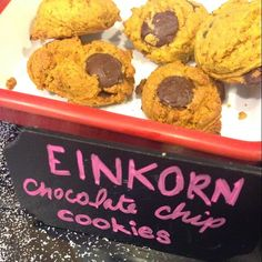 Almost gluten-free chocolate chip cookies using Young Living's Einkorn mix!