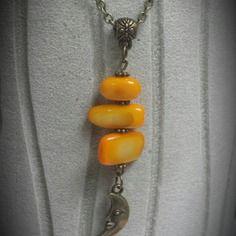 Collier bronze perles nacrées