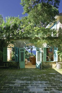 Oliver Messel Green - a Caribbean staple color - here in Barbados
