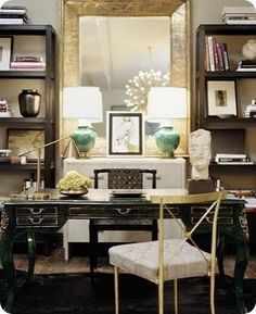 this is a great mix_I know you'll love that gold mirror and you have the bookshelves already