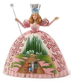 Jim Shore - Disney Traditions - There's No Place Like Home-Glinda Wizard of Oz Jim Shore Disney, Christmas Story Books, Glinda The Good Witch, Disney Traditions, Judy Garland, Movie Collection, Collectible Figurines, Over The Rainbow, Wizard Of Oz