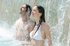 Picture of Happy smiling couple refresh under fresh waterfall at summer swimming pool stock photo, images and stock photography. Fiberglass Swimming Pools, Pool Builders, Beat The Heat, Cool Pools, Brisbane, Waterfall, Royalty Free Stock Photos, Marriage, Couples