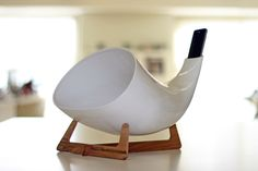"""Megaphone"" passive amplifier in porcelain, made in Italy"