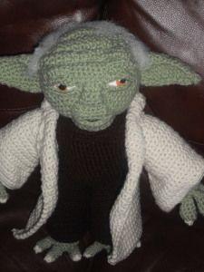 AH! Creations - realistic looking yoda plush - free crochet pattern
