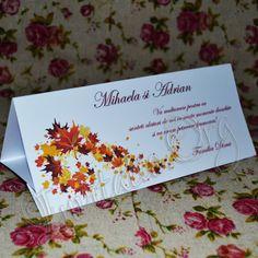 Plicuri de bani cu frunze de toamna Unique Weddings, Unique Wedding Favors