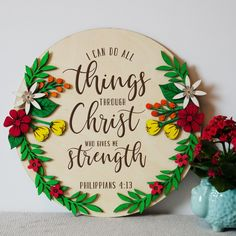 Painted Wooden Boxes, Wooden Wall Plaques, Wooden Walls, Hand Painted, Scripture Signs, Bible Verse Wall Art, Bible Verses, Nursery Banner, Nursery Themes