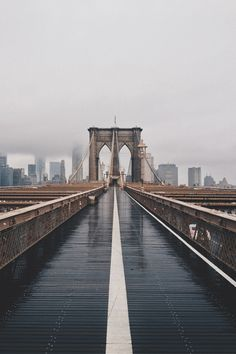 Even on a rainy day, the Brooklyn Bridge is a beauty.