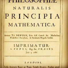 """On this day, July 5th 1687 Isaac Newton published his """"Philosophiæ Naturalis Principia Mathematica"""" that would revolutionise Sciences for centuries. It is interesting to note that at that time, we talked about """"Natural Philosophy"""" Next time you look at the Moon, remember that it is constantly falling on Earth and thank Sir Isaac Newton for this discovery!  #onthisday #lookup #isaacnewton #newton #sciencerocks #education #educationforall #science #discovery #moon #themoon #earth #universe…"""