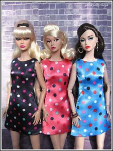 Outfit-Dark-blue-Polka-Dots-dress-fits-1-6-Poppy-Parker-FR-Nu-Face-Eden-doll