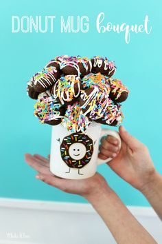 Donut Mug Bouquet!  Super easy gift idea!
