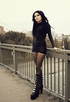 Sweet and straight-up #Goth girl