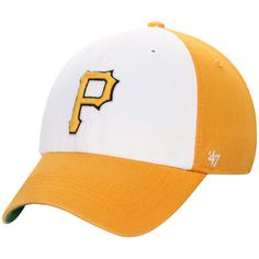 Pittsburgh Pirates '47 Freshman Franchise Fitted Hat - Gold/White