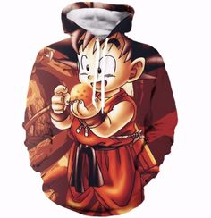 Anime Dragon Ball Z Pocket Hooded Sweatshirts Kid Goku