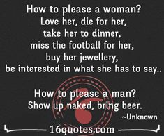 How to please a woman/man