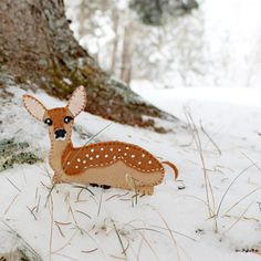 Part of the Maine Woods series, get the plans to make this white-tail fawn.