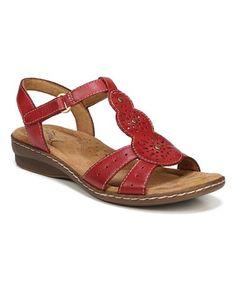 Red Barton Leather Sandal - Women #zulily #zulilyfinds