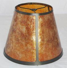 "Mica Lamp Shade USA American Made 4-96""W"