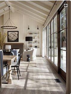 33 Amazing Modern Farmhouse Living Room Decor - Home Design Home Design, Br House, Cozy House, Indoor Outdoor Living, Outdoor Living Spaces, Living Room Remodel, Home Interior, Interior Ideas, Interior Design Farmhouse