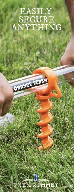 This mighty little screw can anchor tents, tarps, and other lines. It's Made i… This mighty little screw can anchor tents, tarps, and other lines. It's Made in the USA from recycled materials to handle tough jobs. Great addition to your camping gear.