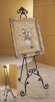 Wrought Iron Painting Console Display Advertising Greeter Easel European Artist S Studio Pinterest Consoles Style And