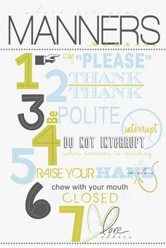manners..