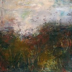 """Dusk on Horn Lane"" Oil/Cold Wax/Plaster on Panel"
