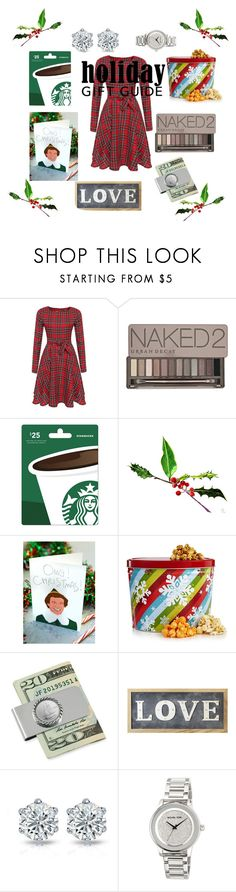 """AffordableChristmas"" by breestreet ❤ liked on Polyvore featuring Urban Decay, Tay Ham, The Hampton Popcorn Company, American Coin Treasures, Parlane and MICHAEL Michael Kors"