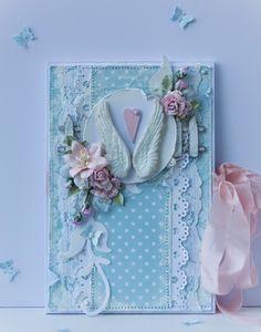 Ромашкины безделушки: Свадебная открытка - конверт в стиле шебби шик