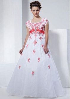 Empire Waistline Ball Gown