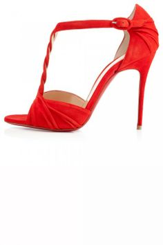 Christian Louboutin bright orange heeled sandals | SS 2014 | cynthia reccord