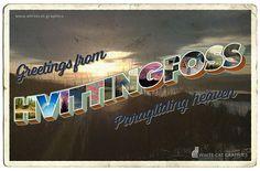 Postcard of Hvittingfoss, Norway