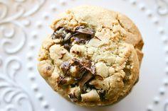 Bakergirl: Brown Butter-Peanut Butter Truffle Chocolate Chip Cookies.