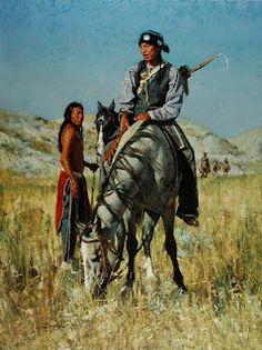 Indios Americanos, Pinturas Realistas por D. Edward Kucera kp