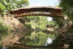 Villagers in the Philippines Build a Gorgeous New Bridge from Bamboo