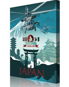 """Share Squadron Posters for a 10% off coupon! HSM-51 """"Warlords"""" NAF Atsugi #http://www.pinterest.com/squadronposters/"""