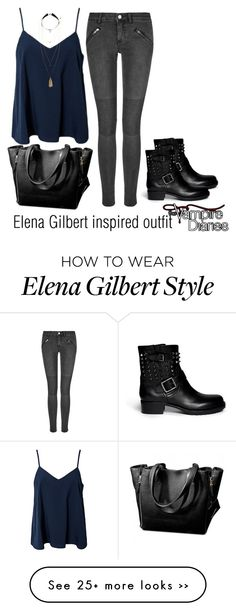 """""""Elena Gilbert inspired outfit/TVD"""" by tvdsarahmichele on Polyvore"""