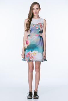 ANTHOM // Sweetheart Floral Dress