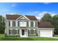3 story colonial house plans. EPlans Colonial House Plan \u2013 Three Bedroom With Typical Front Symmetry 1764 Square Feet And 3 Bedrooms From Code Story Plans