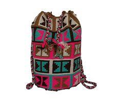 Bolso Wayuu tejido a mano de algodón y fibra Mandy