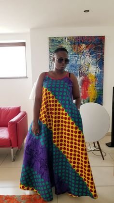Ankara maxi dress Long African Dresses, Ankara Long Gown Styles, Latest African Fashion Dresses, African Print Dresses, African Inspired Fashion, African Print Fashion, African Attire, African Wear, Plus Size Wedding Guest Outfits