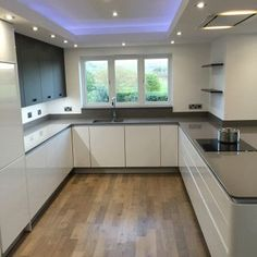 Mr & Mrs Fort - DP Interiors of Preston, Lancashire - Modern Kitchen Kitchen Ceiling Design, Kitchen Room Design, Modern Kitchen Design, Home Decor Kitchen, Kitchen Living, Kitchen Interior, Kitchen Ideas, Luxury Kitchens, Home Kitchens