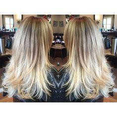Blonde balayage on long straight hair Balayage Straight Hair, Balayage Blond, Hair Color Balayage, Balayage Hairstyle, Easy Hairstyles For Long Hair, Summer Hairstyles, Straight Hairstyles, Fire Hair, Stylish Hair