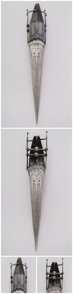 Katar Dagger. Dated: 16th century. Culture: South Indian, Vijayanagara.   Copyright © 2015 The Metropolitan Museum of Art